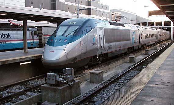 I want to ride on Acela!